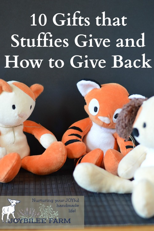 "When you give a gift you are investing in a friendship. Your gift says, ""I thought of you. You're important to me. I haven't forgotten you. I acknowledge you."" Stuffed animals, teddy bears, plush toys, have a special place in the gift giving genre. Like flowers, they deliver a message of comfort, respect, and love."