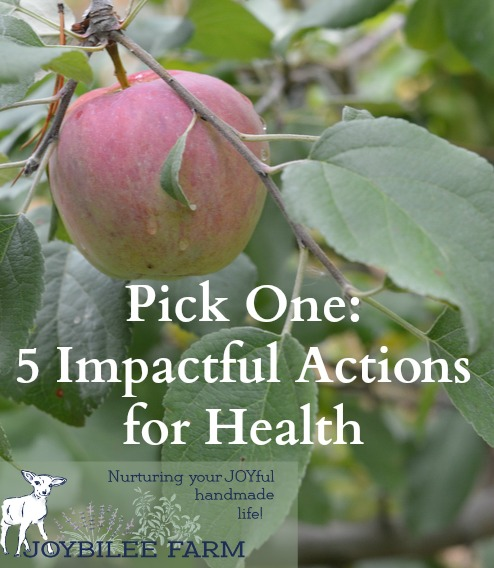 One action can have a stong impact for your healthy lifestyle
