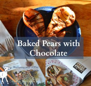 Baked Pears with Chocolate