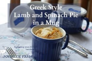 Greek-Style Lamb and Spinach Pie in a Mug