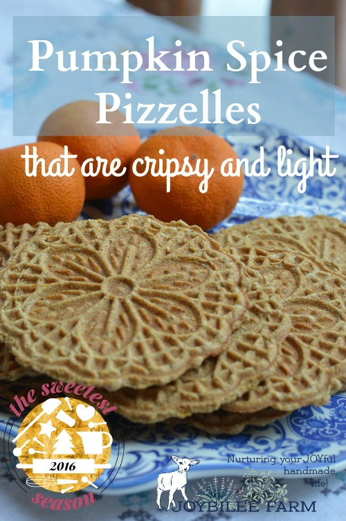 Pizzelles are an Italian wafer cookie made with a special iron press that squishes the cookie batter between two decorative plates, and then heats it to a crisp cookie texture, much like a waffle cone. Pizzelles are quick to make, and not too sweet. Commonly served with espresso they are a light treat that won't overwhelm.