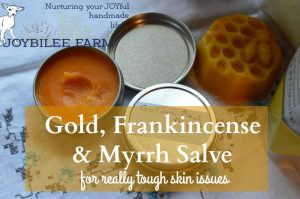 Gold, Frankincense, and Myrrh Salve for your DiY Apothecary