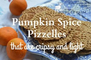 Pumpkin Spice Pizzelles Recipe