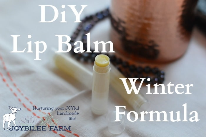 Winter lip balm is a softer product than summer lip balm. It's intended to stay softer at room temperature so that it is easy to apply to the lips, even in outdoor winter temperatures. You'll want to keep your unopened winter lip balms in a cool cupboard so that they stay solid. Don't store them near the wood stove.