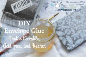 DIY Envelope Glue That's Lickable, Acid-free, and Kosher