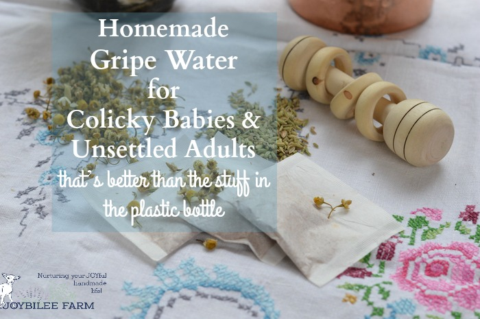 For those times when normal soothing and rocking doesn't calm baby down you can make this DIY Gripe Water. Make it fresh as you need it.