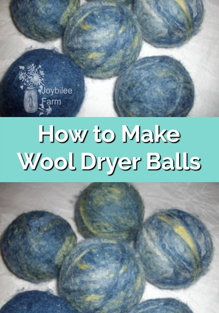 blue colored wool dryer balls
