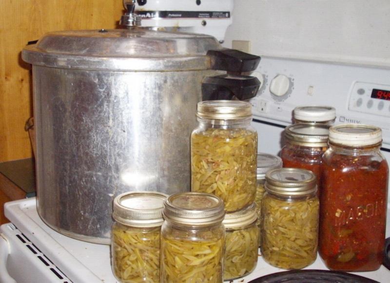 Pressure canning vegetables