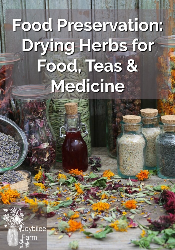 Lots of dried, colourful herbs in bottles, canisters and jars.