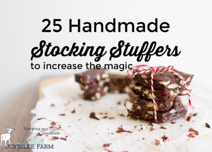 Handmade stocking stuffers make Christmas morning sustainable, meaningful and increase the magic.  Who doesn't love finding a gift that can't be bought in the store?
