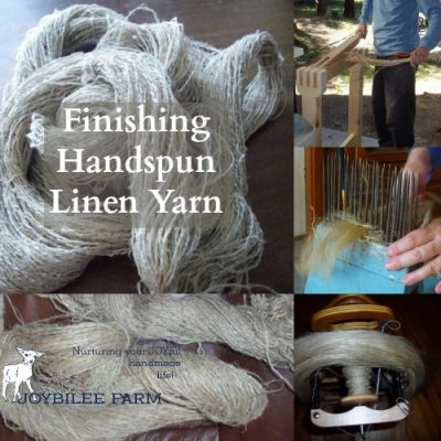 Finishing Hand spun Linen Yarn