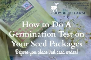 How to Do A Germination Test on Your Seed Packages