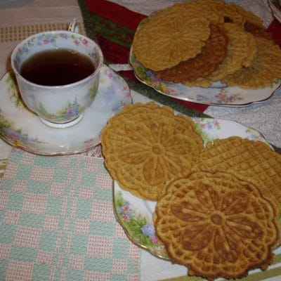 Pizzelle with a secret ingredient, thanks to Wondermill Electric Grain Mill