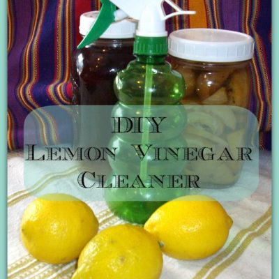 Make natural cleaning products like DIY Lemon-vinegar Cleaner
