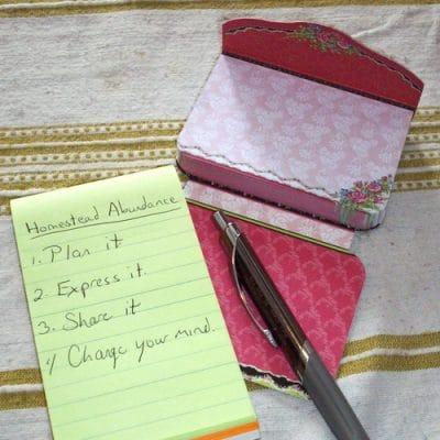 3 easy steps to Homestead Abundance