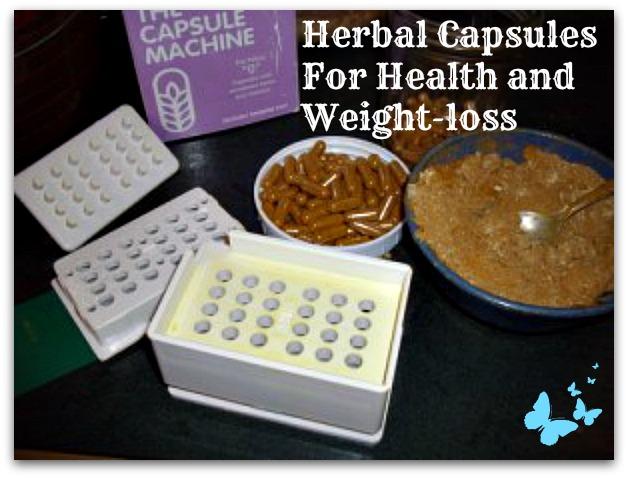 Herb capsules by a capsule making machine
