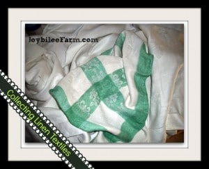 Treasure Hunting for Linen Textiles