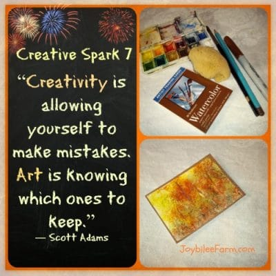 Creative Sparks 7 – What do you want your life to look like?