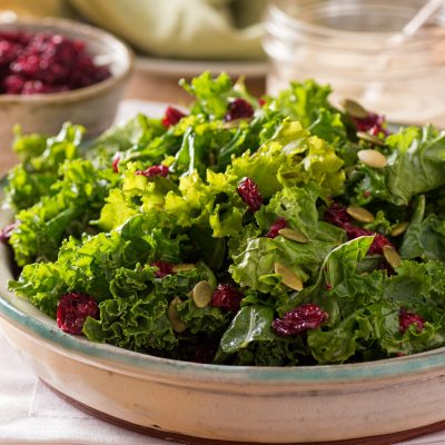 Fall Kale Salad with Pomegranate Dressing and a Secret Ingredient