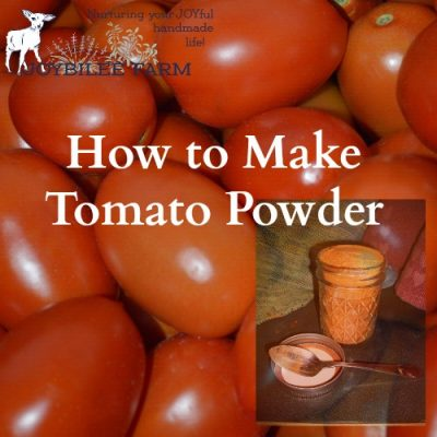 How to Make Tomato Powder