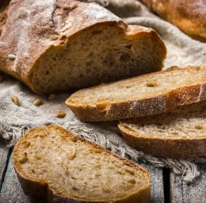 Sliced, fresh baked multi-grain bread