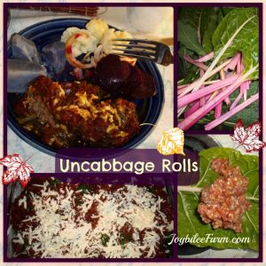 Un-cabbage rolls with more yummy, less tummy