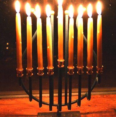 Making Hand Dipped Beeswax Hanukkah Candles