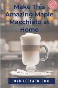 A macchiato in a glass mug