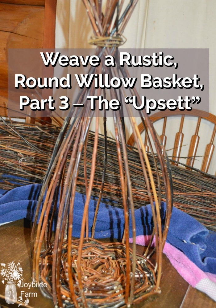 Basket weaving - Willow basket weaving in progress - upsett stage