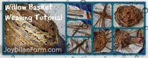 Photo collage of willow basket weaving