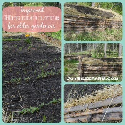 An improved hugelkultur bed for older homesteaders