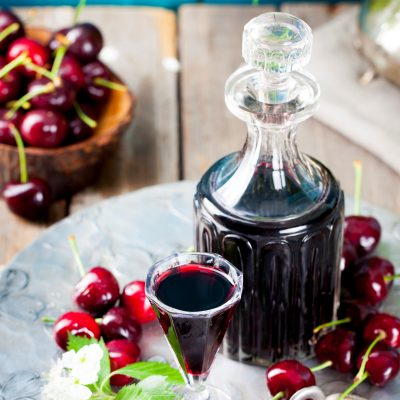 DIY Cherry liqueur for gift giving