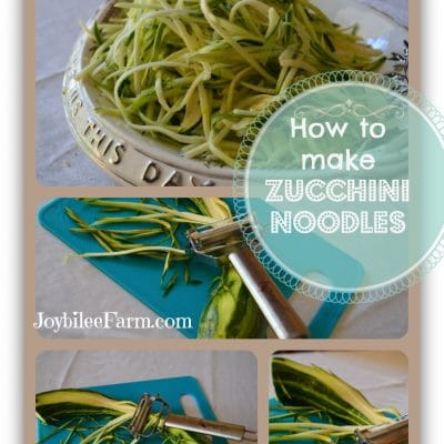 How to make low carb zucchini noodles