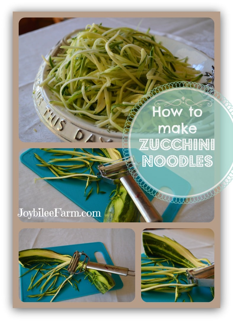 how to turn zucchini into noodles