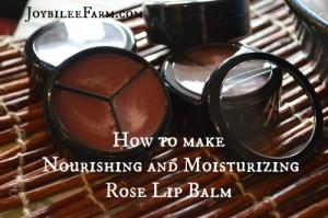 How to make Nourishing and Moisturizing Rose Lip Balm