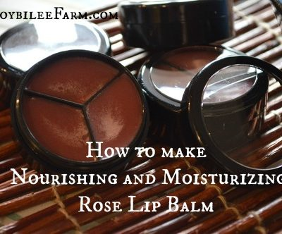How to make Nourishing and Moisturizing Rose Lip Balm