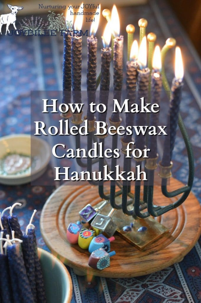 Making beeswax candles for Hanukkah is an easy craft that you can share with children as young as 5. Beeswax candles burn cleanly and dripfree when made with a properly sized wick. Unlike paraffin candles that give off toxic fumes when burning, beeswax candles give off negative ions that clean the air and improve indoor air quality. Make DIY beeswax candles for Hanukkah in about an hour.
