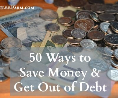 Debt Free Living:  50 Strategies to Save Money and Get Out of Debt
