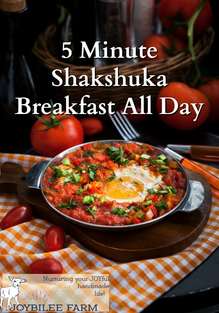 Make shakshuka in just 5 minutes for a quick and nutritious meal anytime of the day.