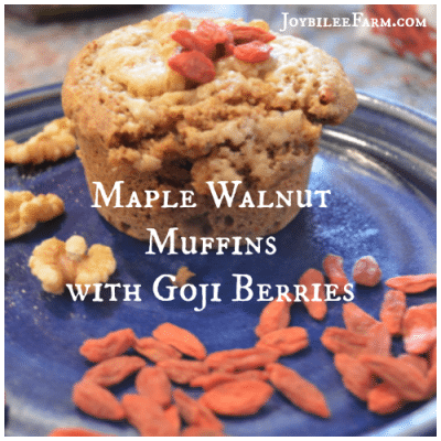 Breakfast Muffins: Maple Walnut Muffins with Goji Berries