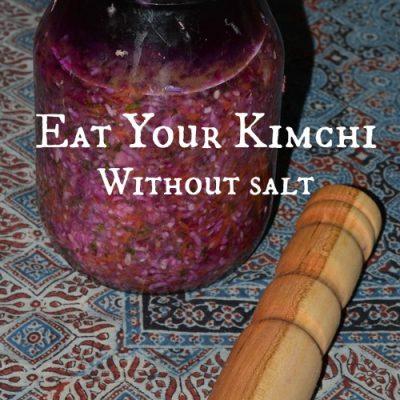Eat your kimchi salt-free