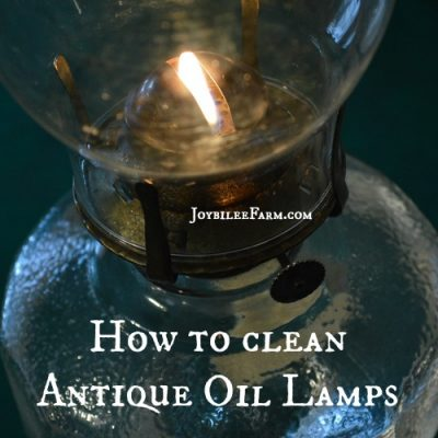 How to clean antique oil lamps