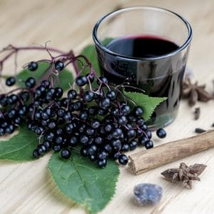 Scientific studies show that elderberry prevents viruses from replicating in the body, shortening the duration of colds or flu. During flu season I use elderberry syrup as a favouring in our water bottles – 1 tsp per cup of water. It's a tasty, functional food that helps us stay healthy and strong during the season when all those around us are coughing and sniffing.