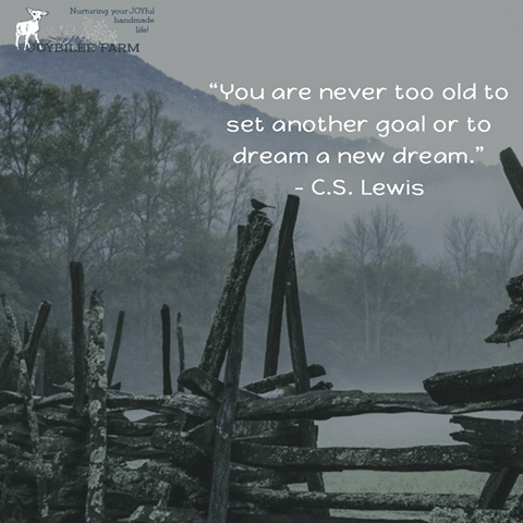 You're never too old to dream a new dream