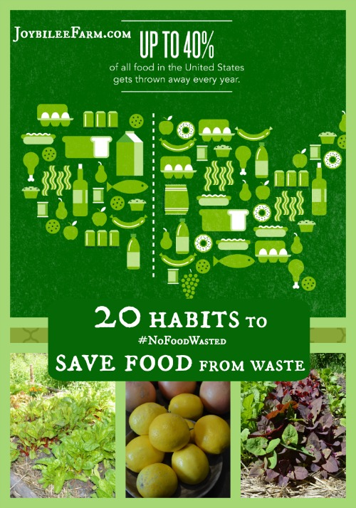 20 habits to save food from waste -- #NoFoodWasted -- Joybilee Farm