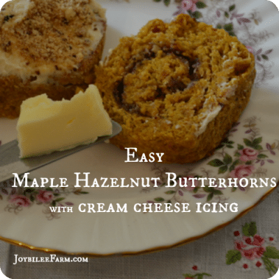 Easy Maple Hazelnut Butterhorn Recipe with Cream Cheese Icing — World Baking Day