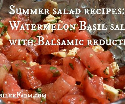 Summer salad recipes: Watermelon Basil salad with Balsamic reduction