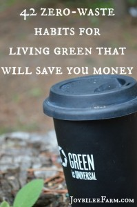 42 zero waste habits for living green that will save you money