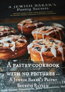 A pastry cookbook with no pictures
