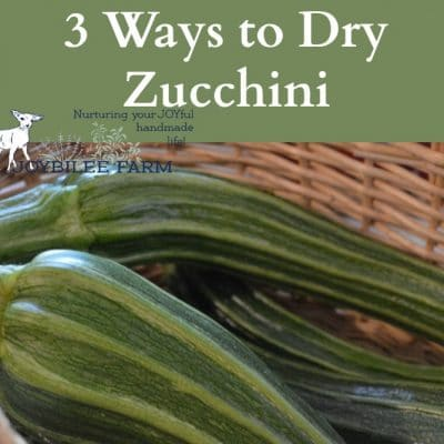 3 ways to dry zucchini